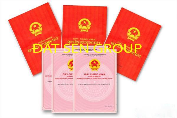 đất sen group hỗ trợ làm bìa đỏ