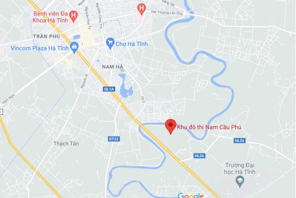 Vị trí khu đô thị Nam Cầu Phủ