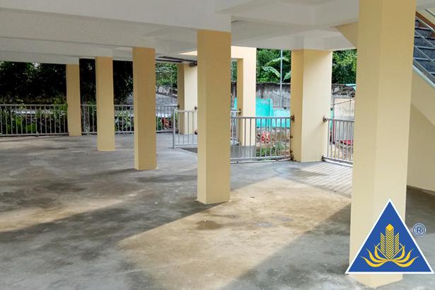 Một phần diện tích tầng 1 nhà văn hóa thôn Trung Bằng dự kiến là không gian đặt các môn chơi như: bóng bàn, cờ tướng, cờ vua...